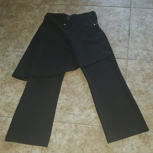 zara pants with attached skirt